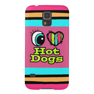 Bright Eye Heart I Love Hot Dogs Cases For Galaxy S5