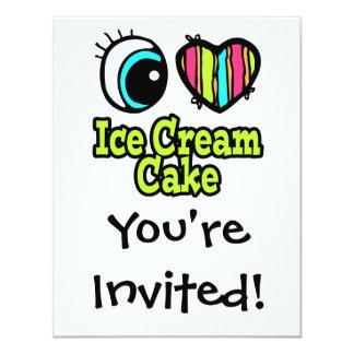 Bright Eye Heart I Love Ice Cream Cake Card