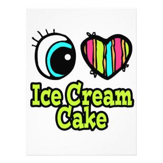 Bright Eye Heart I Love Ice Cream Cake Custom Invite