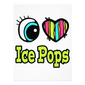 Bright Eye Heart I Love Ice Pops Custom Invites