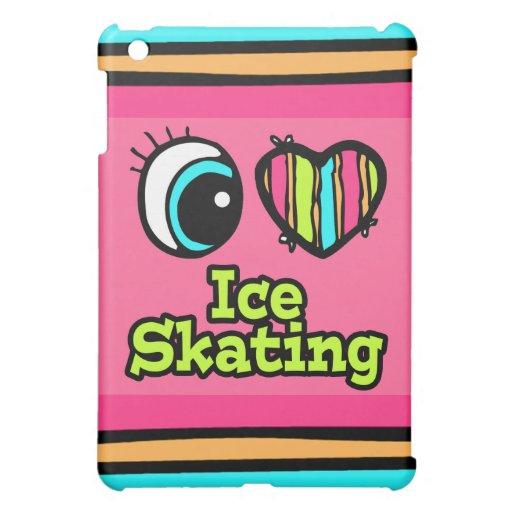 Bright Eye Heart I Love Ice Skating iPad Mini Cover