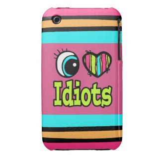 Bright Eye Heart I Love Idiots iPhone 3 Case-Mate Case