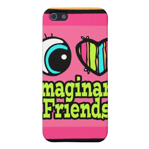 Bright Eye Heart I Love Imaginary Friends Cases For iPhone 5