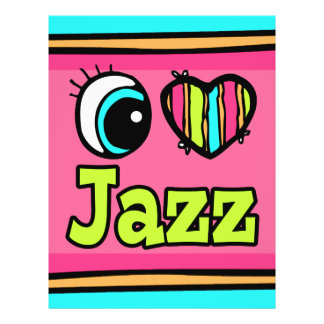 Bright Eye Heart I Love Jazz Personalized Flyer