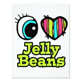 Bright Eye Heart I Love Jelly Beans 4.25x5.5 Paper Invitation Card