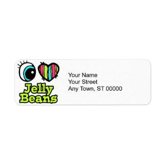 Bright Eye Heart I Love Jelly Beans Custom Return Address Labels
