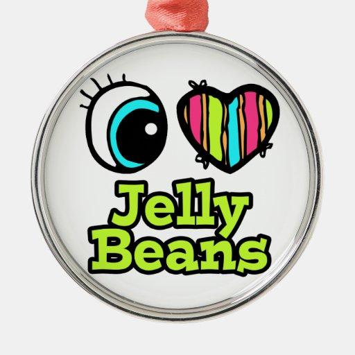 Bright Eye Heart I Love Jelly Beans Ornament