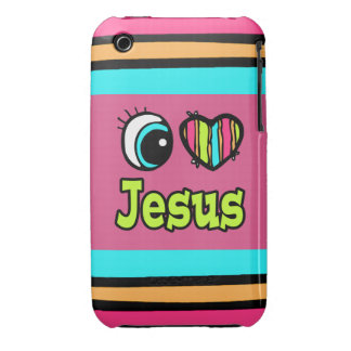 Bright Eye Heart I Love Jesus Case-Mate iPhone 3 Case