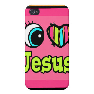 Bright Eye Heart I Love Jesus Covers For iPhone 4