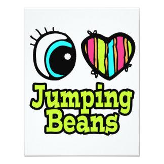 Bright Eye Heart I Love Jumping Beans 4.25x5.5 Paper Invitation Card