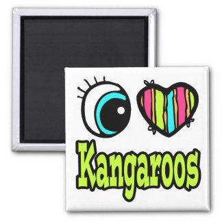 Bright Eye Heart I Love Kangaroos Fridge Magnets