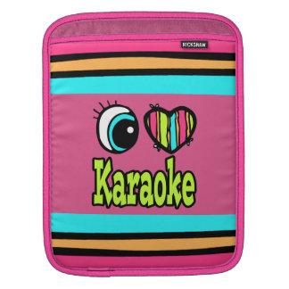 Bright Eye Heart I Love Karaoke Sleeves For iPads