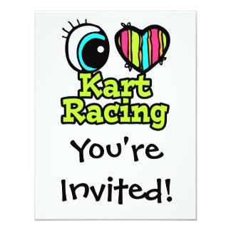 Bright Eye Heart I Love Kart Racing Card