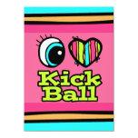 Bright Eye Heart I Love Kick Ball 4.5x6.25 Paper Invitation Card