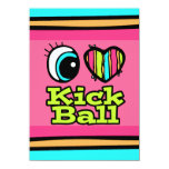 Bright Eye Heart I Love Kick Ball Card