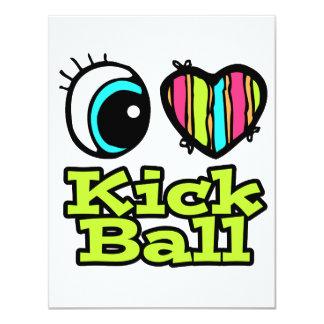 Bright Eye Heart I Love Kick Ball Custom Invitations
