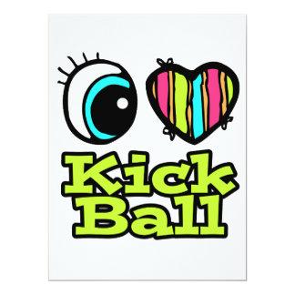 Bright Eye Heart I Love Kick Ball Invite