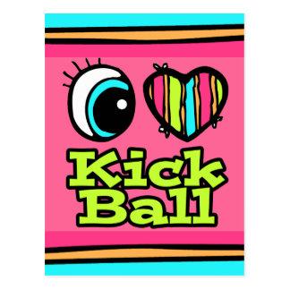 Bright Eye Heart I Love Kick Ball Post Cards