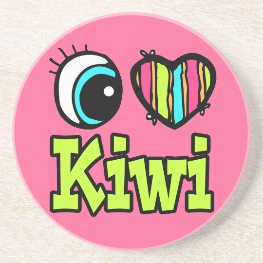 Bright Eye Heart I Love Kiwi Coaster
