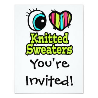 Bright Eye Heart I Love Knitted Sweaters Card
