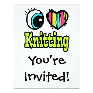 Bright Eye Heart I Love Knitting Card