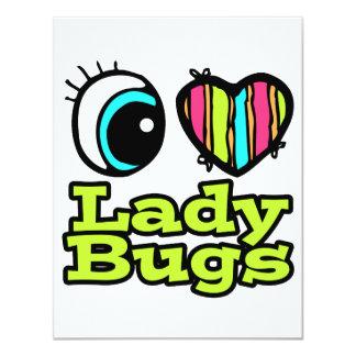 Bright Eye Heart I Love Ladybugs 4.25x5.5 Paper Invitation Card