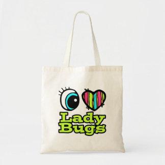 Bright Eye Heart I Love Ladybugs Budget Tote Bag