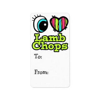 Bright Eye Heart I Love Lamb Chops Address Label