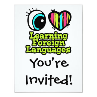 Bright Eye Heart I Love Learning Foreign Languages Card