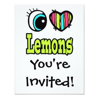 Bright Eye Heart I Love Lemons Card