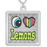 Bright Eye Heart I Love Lemons Necklace