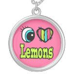 Bright Eye Heart I Love Lemons Pendant
