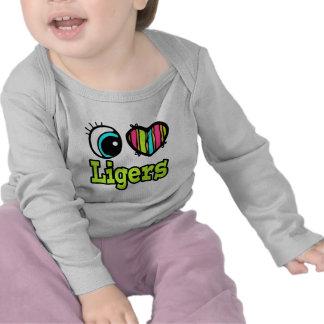 Bright Eye Heart I Love Ligers Shirts