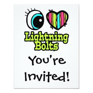 Bright Eye Heart I Love Lightning Bolts Card