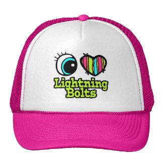 Bright Eye Heart I Love Lightning Bolts Trucker Hat