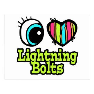 Bright Eye Heart I Love Lightning Bolts Postcard