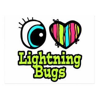 Bright Eye Heart I Love Lightning Bugs Postcard
