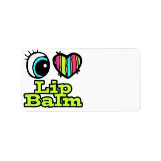 Bright Eye Heart I Love Lip Balm Personalized Address Labels