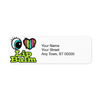 Bright Eye Heart I Love Lip Balm Custom Return Address Labels