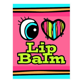 Bright Eye Heart I Love Lip Balm Postcard