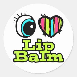 Bright Eye Heart I Love Lip Balm Stickers