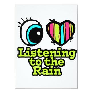 Bright Eye Heart I Love Listening to the Rain 6.5x8.75 Paper Invitation Card