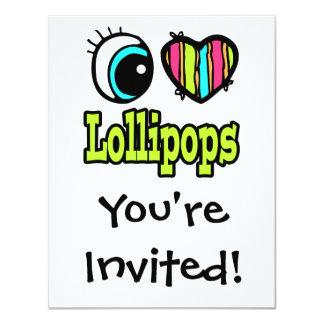 Bright Eye Heart I Love Lollipops Card