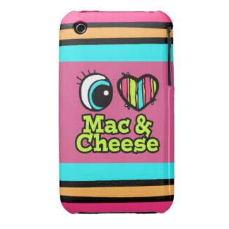 Bright Eye Heart I Love Mac and Cheese Case-Mate iPhone 3 Case