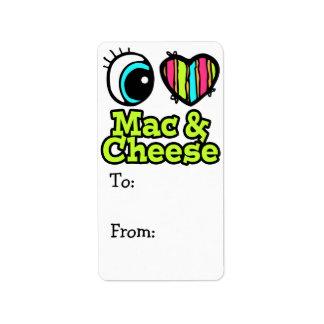Bright Eye Heart I Love Mac and Cheese Label