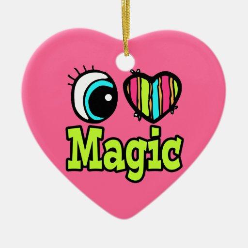 Bright Eye Heart I Love Magic Christmas Ornaments