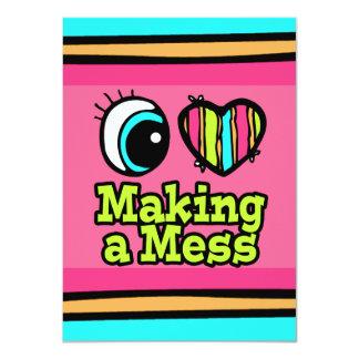 Bright Eye Heart I Love Making a Mess Card