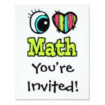Bright Eye Heart I Love Math 4.25x5.5 Paper Invitation Card