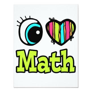 Bright Eye Heart I Love Math Custom Announcements