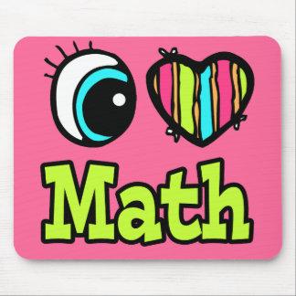 Bright Eye Heart I Love Math Mouse Pad